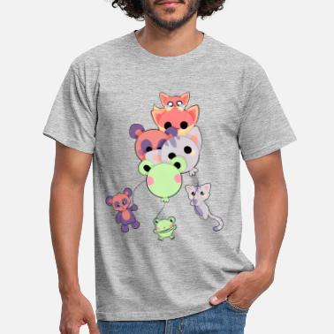 Animals with animal balloons - Men's T-Shirt