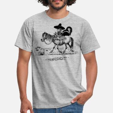 Thelwell 'Cowboy with a skunk' - T-shirt mænd