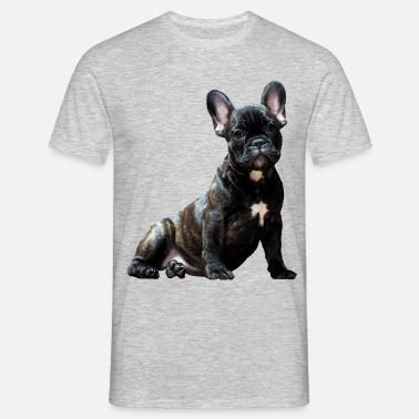 Dog Der Hund Französische Bulldogge Mops Männer Premium Kapuzenjacke Anthrazit