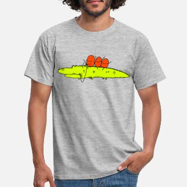 Stick Figure Crocodile ride - Men's T-Shirt