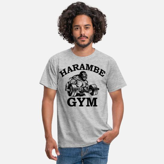 Gym T-Shirts - Harmbee Gym - Men's T-Shirt heather grey