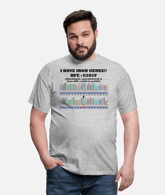 Translation T-Shirts - I have iron genes!! HFE:C282Y - Men's T-Shirt heather grey
