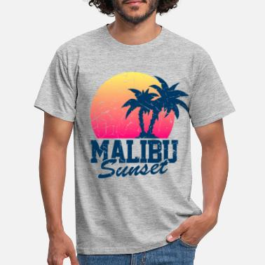 Summer Sunset Malibu vintage worn - Men's T-Shirt
