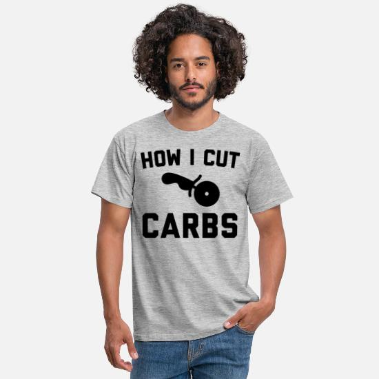 Carbs T-Shirts - Cut Carbs Funny Quote - Men's T-Shirt heather grey