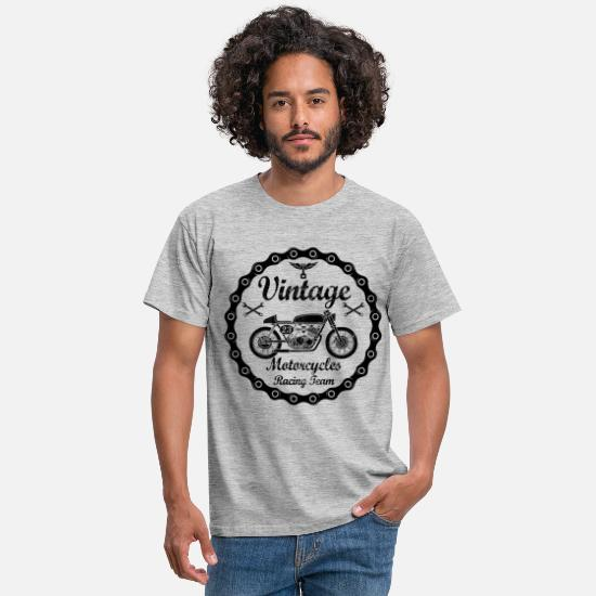 Moto T-shirts - vintage motorcycles 04 - T-shirt Homme gris chiné