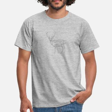 Drawing Hirsch - one line drawing - Men's T-Shirt