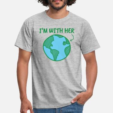 Climate Earth Day I'm With Her - Men's T-Shirt