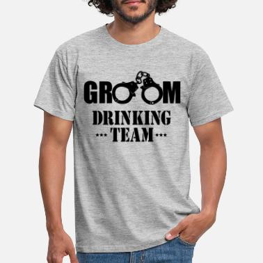 Party GROOM drinking team vrijgezellen party - Mannen T-shirt