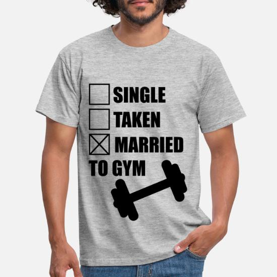 8991aa5d18 Funny Gym T-Shirts - Married to gym : funny Gym Body building Fitness -