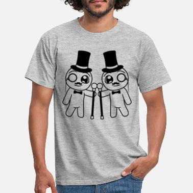 Ungulate team 2 friends couple gentlemen gentlemen Sir gentleman Zyli - Men's T-Shirt