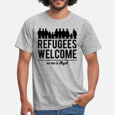 Refugees Welcome Refugees welcome - Miesten t-paita