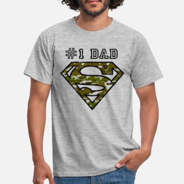 Superman Superman Super Dad Army - T-shirt herr