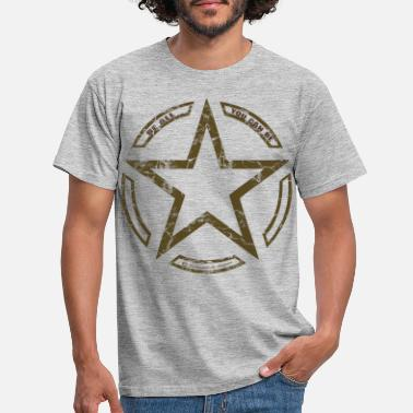 United Army star vintage US Army star - Men's T-Shirt