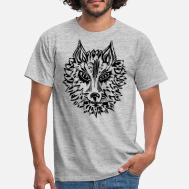 Tribal Wolf, symbol of loyalty and strength, Animal Totem - Men's T-Shirt