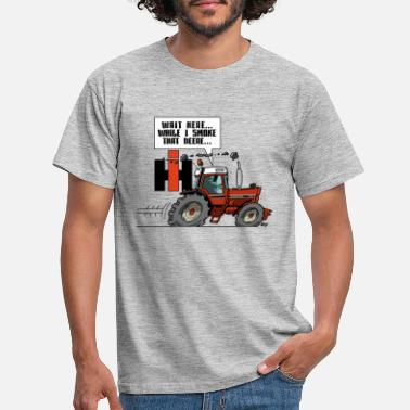 Tracteur Attends ici (IH) - T-shirt Homme