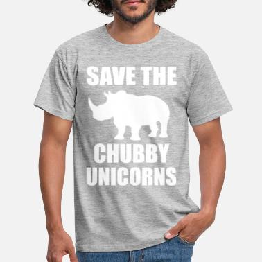 Chubby Save The Chubby Unicorn - Men's T-Shirt
