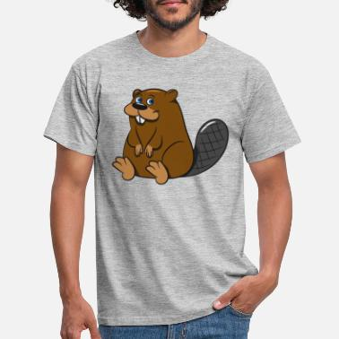 Mallet Beaver sweet dear cute baby child wood dam Wass - Men's T-Shirt