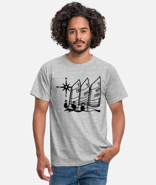 Sailing T-Shirts - Optimist regatta - Men's T-Shirt heather grey