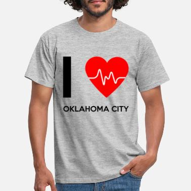Oklahoma City I Love Oklahoma City - I Love Oklahoma City - Men's T-Shirt