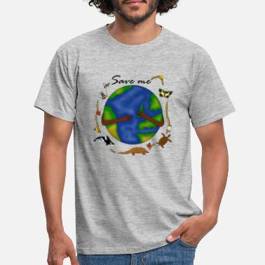 Afgørelse Save the Earth Design 2 - T-shirt mænd