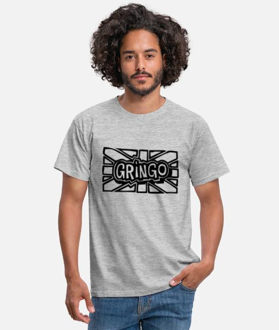 Union Jack T-Shirts - gringo - Men's T-Shirt heather grey