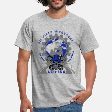 Oil Oil Rig North Sea Aberdeen Scotland - Men's T-Shirt