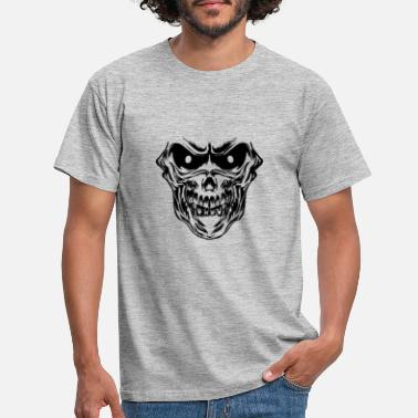 Bounce Skull skull rock party trance techno satan goa - Men's T-Shirt