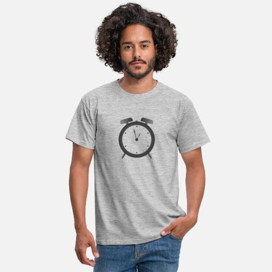 Single T-Shirts - alarm clock - Men's T-Shirt heather grey