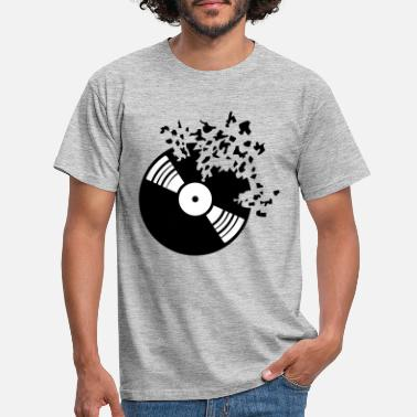 Dj broken vinyl plate splinter broken broken pieces - Men's T-Shirt
