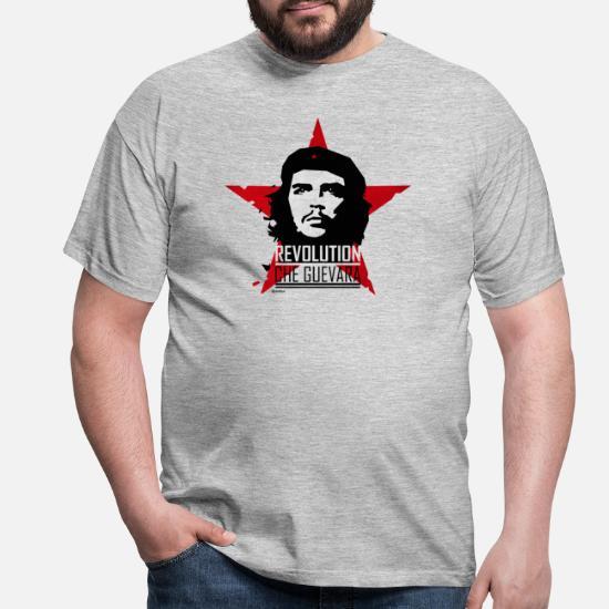 FADED COMMUNIST STAR STAMP PRINT MENS T-SHIRT COMMUNIST COMMUNISM CHE GUEVARA