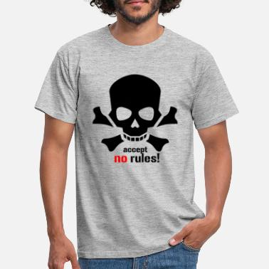 Riot accept no rules - Men's T-Shirt