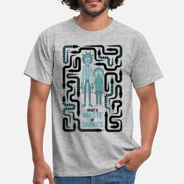 Rick And Morty Snake Labyrinth - Men's T-Shirt