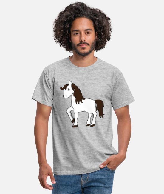 hesthvide hest 422 T skjorte for menn | Spreadshirt