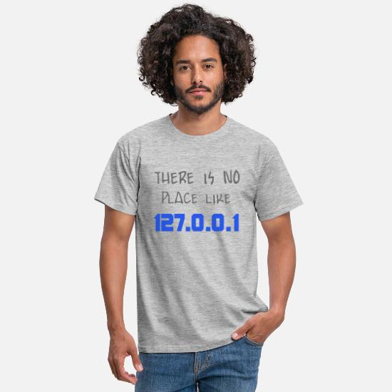 Local Host T-Shirts - localhost - Men's T-Shirt heather grey