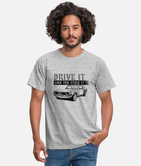 Bikes And Cars Collection T-Shirts - Drive It - Coupe - Männer T-Shirt Grau meliert