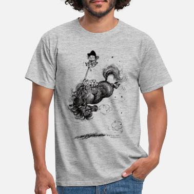 Thelwell Thelwell - Pony springing - Men's T-Shirt