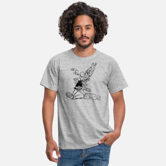 Elixir T-Shirts - Asterix & Obelix - Asterix is singing - Men's T-Shirt heather grey