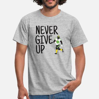 Never Give Up Never Give Up - American Football (green, black) - Men's T-Shirt