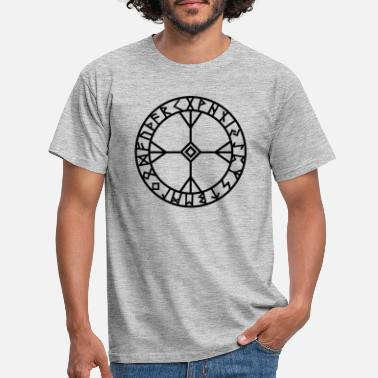 Viking Magic Hammer Algiz rune I Wisdom and courage I amulet I 1c I - Men's T-Shirt