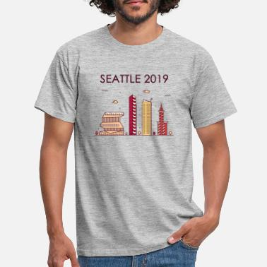 Seattle Seahawks Seattle 2019 - T-skjorte - T-skjorte for menn