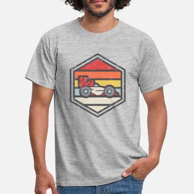 Alonso Retro Badge Racer Light - Mannen T-shirt
