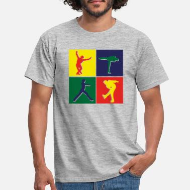Figure 4 color image Figure skating man - Men's T-Shirt