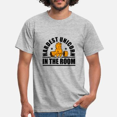 Fitnessstudio Hardest Unicorn in the room - Männer T-Shirt