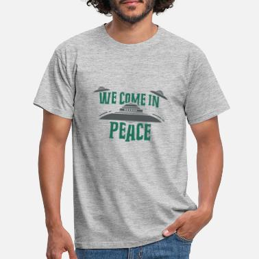 Flying Saucer Haunebu Vril Reichsflugscheibe UFO Come in Peace - Men's T-Shirt
