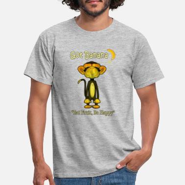 Vegan Happy Monkey - Men's T-Shirt