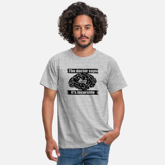 Gift T-shirts - diagnose arts ongeneeslijke diagnose Black Hawk Hu - Mannen T-shirt grijs gemêleerd