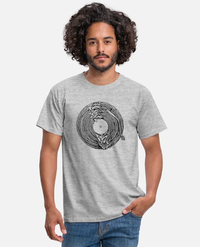 Pop T-shirts - turntable dissous - T-shirt Homme gris chiné
