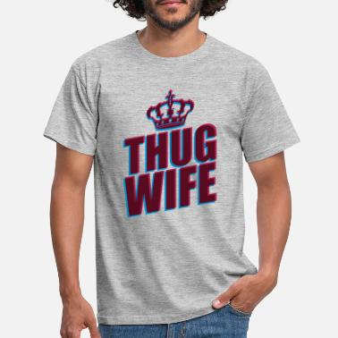 Evil thug wife queen crown princess queen koenigin 3d logo - Men's T-Shirt