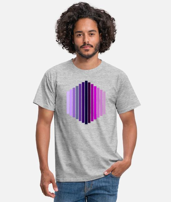 Lilac T-Shirts - hexagon - Men's T-Shirt heather grey