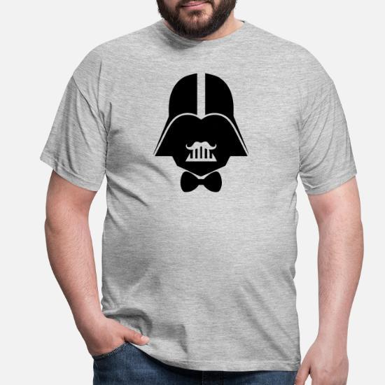 Darth Vader Hipster hw02 Männer T Shirt Grau meliert